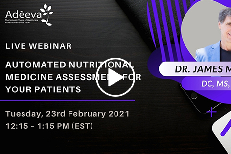 Automated Nutritional Medicine Assessment for Your Patient